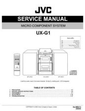 Buy JVC UX-G1-30 Service Manual by download Mauritron #284156