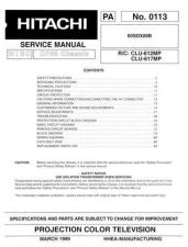 Buy Hitachi 60SDX88B Service Manual by download Mauritron #286008