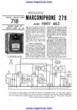 Buy MARCONI. 279. Vintage. Service Information. Manual by download Mauritron #312542