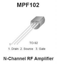 Buy Transistor - MPF102 N-FET (TO-92) - 12 Pieces