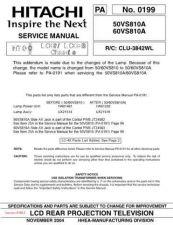 Buy Hitachi 60VS810A Service Manual by download Mauritron #286036