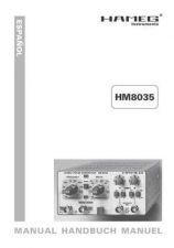 Buy Hameg HM8035 Operating Guide in Spanish by download Mauritron #307260