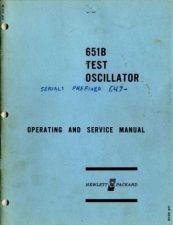 Buy Hewlett Packard 651B Service Manual -sn-647 by download Mauritron #326667