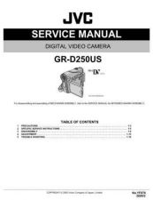 Buy JVC GR-D250US Service Manual by download Mauritron #274131