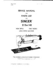 Buy Singer 212W140 Sewing Machine Service Manual by download Mauritron #321333