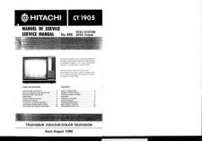 Buy Hitachi CT1906 Service Manual by download Mauritron #284990