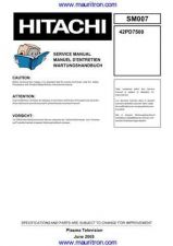 Buy Hitachi 42PD7500 Service Manual by download Mauritron #326720