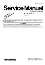 Buy Panasonic T7710CE_SUP2 Manual by download Mauritron #301795