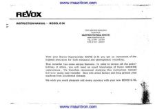 Buy REVOX G36 Tape Recorder Operating Guide by download Mauritron #327003