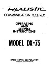 Buy Realistic DX75 Receiver Service Manual by download Mauritron #320313