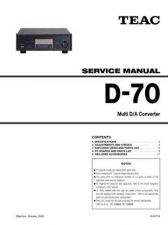Buy Teac D-70_EX Service Manual by download Mauritron #319345
