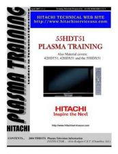 Buy Hitachi 55HDT51-Train-All Service Manual by download Mauritron #323118