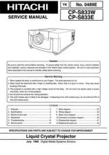 Buy Hitachi YK-0489E Service Manual by download Mauritron #287535