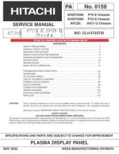 Buy Hitachi PT2E-G AVC1-U CHASSIS Service Manual by download Mauritron #285460