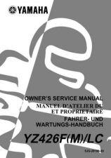 Buy Yamaha 5JG-28199-80 Motorcycle Manual by download #334439