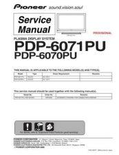 Buy Panasonic PDP-6070PU Manual by download Mauritron #301177