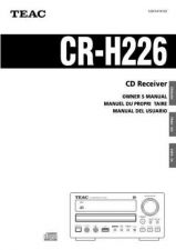 Buy Teac CR-H220EFSTCA Operating Guide by download Mauritron #318457