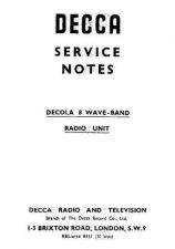 Buy DECCA DECOLA Vintage Audio Service Sheets by download Mauritron #331175