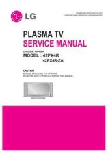 Buy LG 42PX4R Service Manual by download Mauritron #332121