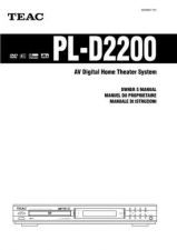 Buy Teac PL-D2100EHK Operating Guide by download Mauritron #319152