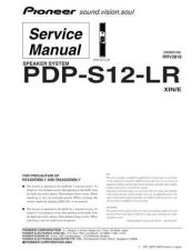 Buy Panasonic PDP-S12-LR Manual by download Mauritron #301213