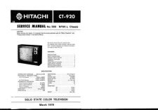 Buy Hitachi CT-945 Service Manual by download Mauritron #289722