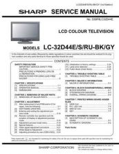 Buy Sharp LC32D44E Service Manual by download Mauritron #330979