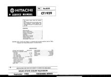 Buy Hitachi CT1930 Service Manual by download Mauritron #285004