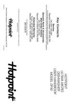 Buy Hotpoint DF55 Dishwasher Operating Guide by download Mauritron #313564