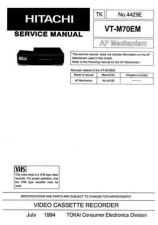 Buy Hitachi VT8500A Service Manual by download Mauritron #285649