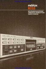 Buy Revox B225 Operating Guide by download Mauritron #317643
