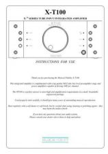 Buy Musical Fidelity XT100 ENG Operating Guide by download #333454