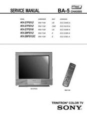Buy Sony KV29FS12C Television Service Manual by download Mauritron #322237