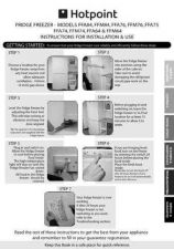 Buy Hotpoint FFM76 Fridge Freezer Owners User Instructions Operating Guide by download Ma