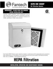 Buy Honeywell fantech hepadm3000pmanual Operating Guide by download Mauritron #316763