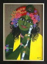 Buy Krishna Painting - Acrylic on Bulletin Board