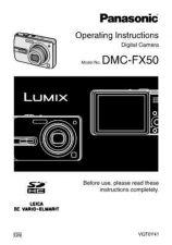 Buy Panasonic DMC-FX50---- Manual by download Mauritron #298736