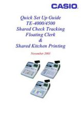 Buy Casio TE-4000 Cash Register Operating Guide by download Mauritron #315965