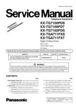 Buy Panasonic KX-TG1100FXT Manual by download Mauritron #300432