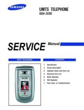 Buy Samsung SGH-ZV30 Mobile Phone Service Manual by download Mauritron #306502
