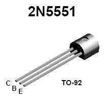 Buy Transistor - 2N5551 NPN (TO-92) - 26 Pieces