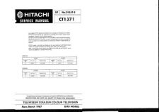 Buy Hitachi CT1372 Service Manual by download Mauritron #284967