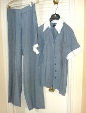 Buy Worth Pant SUIT 6 8 Short Sleeve Denim Blue Color Cotton Pant Blouse Set 6 8