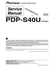 Buy Panasonic PDP-S40U Manual by download Mauritron #301230
