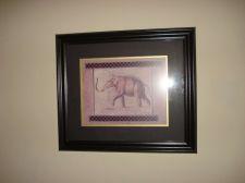 Buy Elephant Art Wall Picture Animal Wildlife Blk Framed Art Print Signed 19 X16