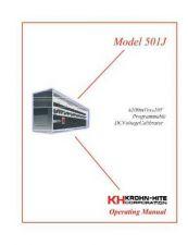 Buy Krohn Hite 501-J User Guide by download #334693