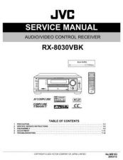 Buy JVC RX-8030VBK Service Manual by download Mauritron #283226