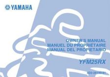 Buy Yamaha 4D3-28199-61 Quad ATV Bike Manual by download #334238