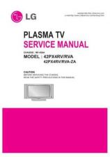 Buy LG 42PX4RV Service Manual by download Mauritron #332122