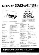 Buy JVC SG170H-E-EW_SM_DE(1) Service Manual by download Mauritron #278168